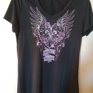 Black w/purple design size XL